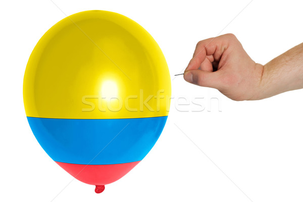 Bursting balloon colored in  national flag of columbia    Stock photo © vepar5