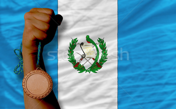 Bronze medal for sport and  national flag of guatemala    Stock photo © vepar5