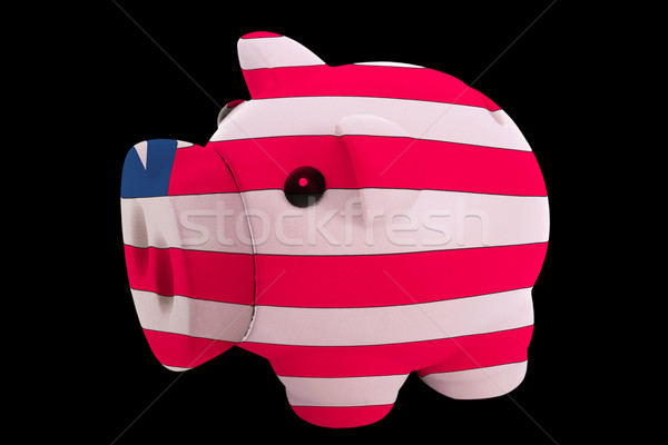 piggy rich bank in colors national flag of liberia   for saving  Stock photo © vepar5