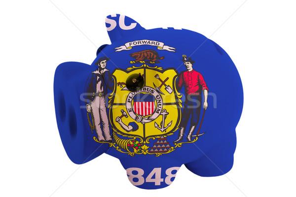 богатых банка цветами флаг американский Сток-фото © vepar5