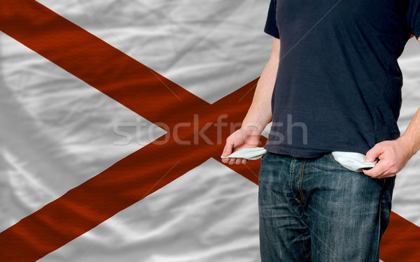 recession impact on young man and society in american state of a Stock photo © vepar5