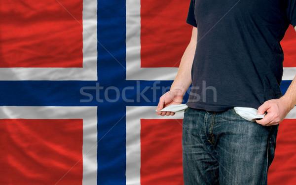 Recessão moço sociedade Noruega pobre homem Foto stock © vepar5