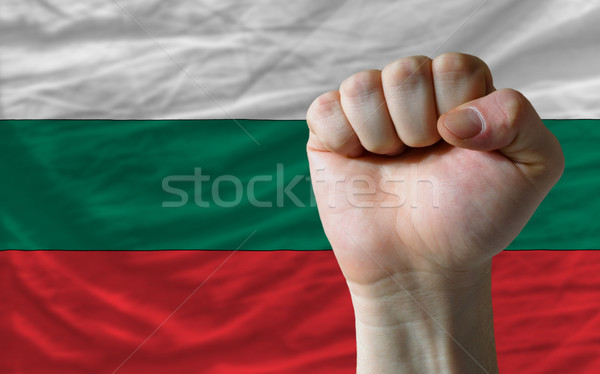 Hard fist in front of bulgaria flag symbolizing power Stock photo © vepar5