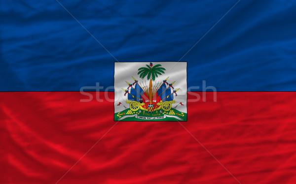 complete waved national flag of haiti for background   Stock photo © vepar5