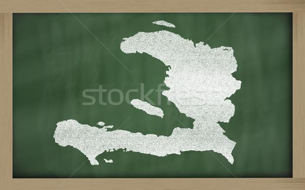 Carte Haïti tableau noir dessin Photo stock © vepar5
