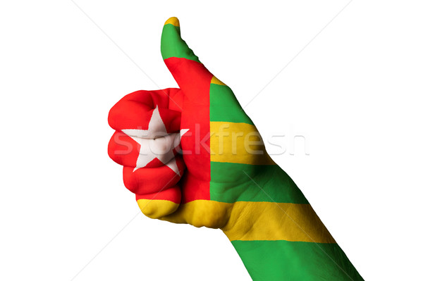 togo national flag thumb up gesture for excellence and achieveme Stock photo © vepar5