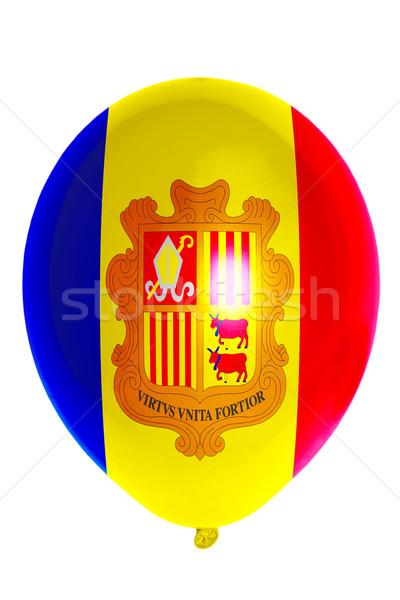 Ballon Flagge Andorra glücklich Reise Stock foto © vepar5