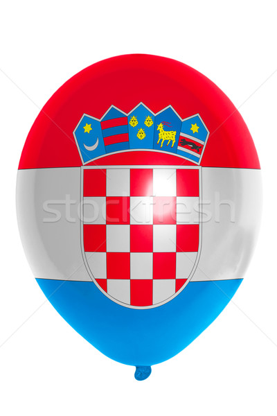шаре флаг Хорватия счастливым путешествия Сток-фото © vepar5