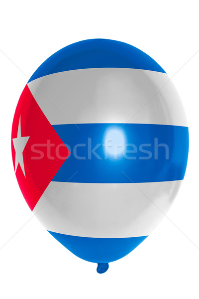 Pallone colorato bandiera Cuba felice viaggio Foto d'archivio © vepar5