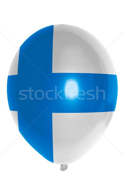 Ballon gekleurd vlag Finland gelukkig reizen Stockfoto © vepar5
