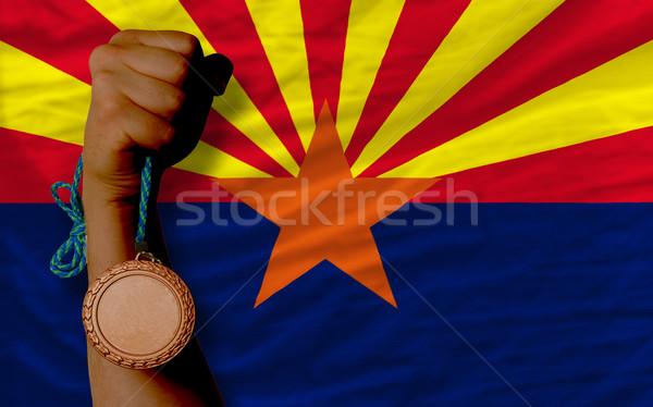 бронзовый медаль спорт флаг американский Аризона Сток-фото © vepar5