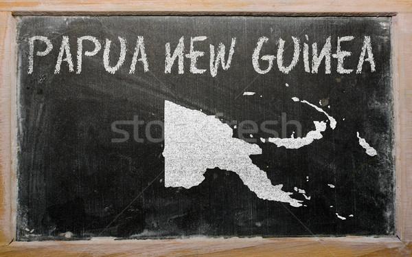 карта Папуа-Новая Гвинея доске рисунок Сток-фото © vepar5