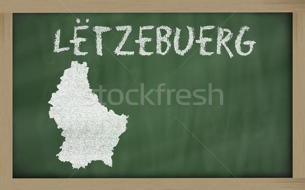 Schets kaart Luxemburg Blackboard tekening schoolbord Stockfoto © vepar5