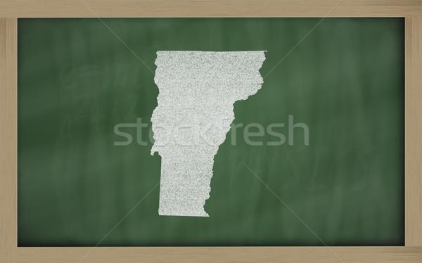 Harita Vermont tahta çizim kara tahta Stok fotoğraf © vepar5