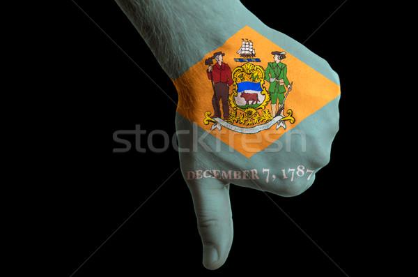 Delaware bandera abajo gesto fracaso Foto stock © vepar5
