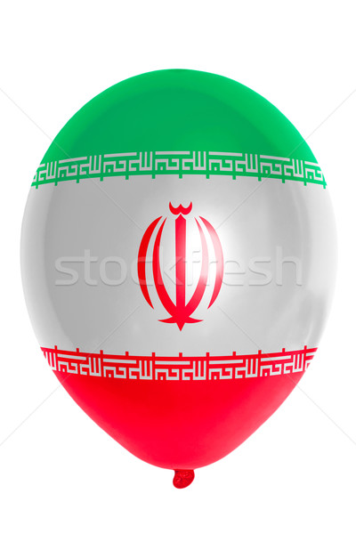 Stock photo: Balloon colored in  national flag of iran