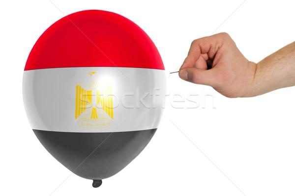 Bursting balloon colored in  national flag of egypt    Stock photo © vepar5