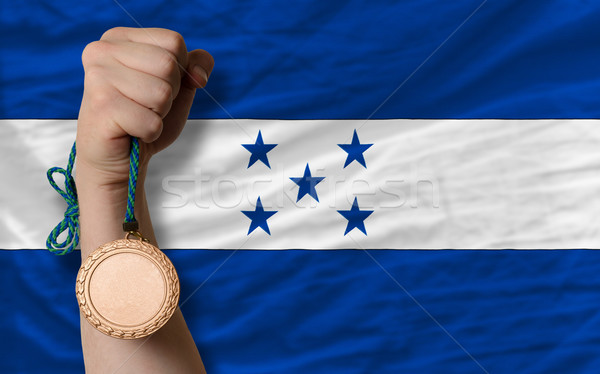 青銅 金メダル スポーツ フラグ ホンジュラス ストックフォト © vepar5
