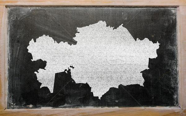 карта Казахстан доске рисунок Сток-фото © vepar5