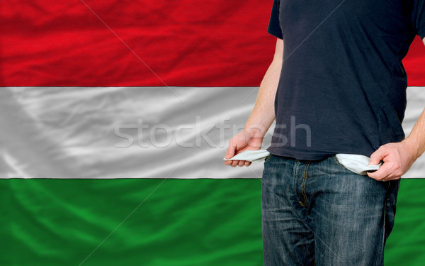recession impact on young man and society in hungary Stock photo © vepar5