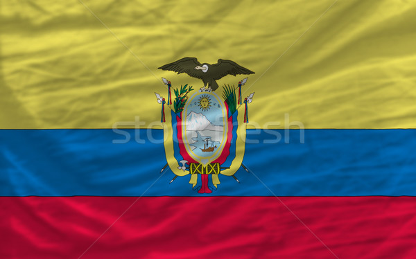 complete waved national flag of ecuador for background   Stock photo © vepar5