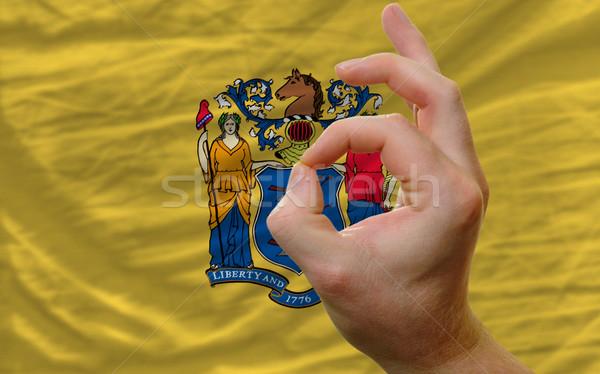 Neden jest New Jersey bayrak adam Stok fotoğraf © vepar5