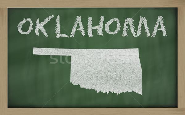 Mapa Oklahoma lousa desenho quadro-negro Foto stock © vepar5