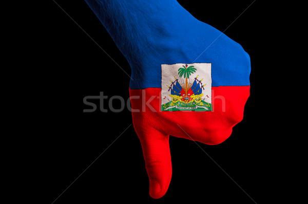 Haïti pavillon vers le bas geste échec Photo stock © vepar5