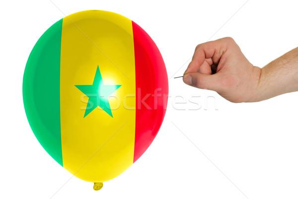 バルーン フラグ セネガル 開く 政治 ストックフォト © vepar5