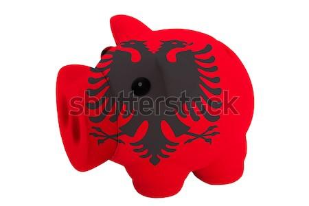 Rico banco cores bandeira Albânia Foto stock © vepar5