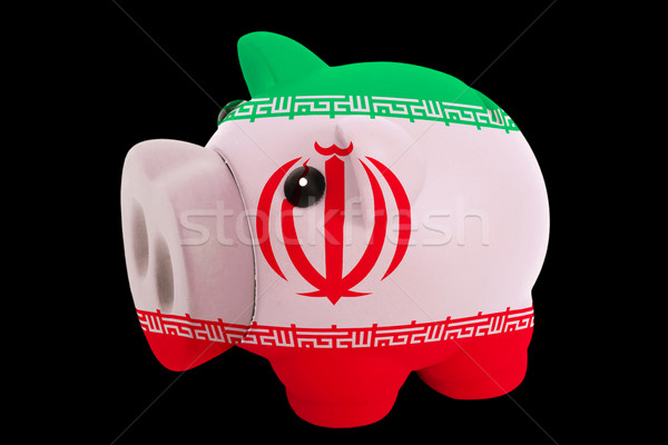 piggy rich bank in colors national flag of iran   for saving mon Stock photo © vepar5