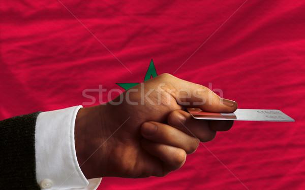 Satın alma kredi kartı Fas adam dışarı Stok fotoğraf © vepar5