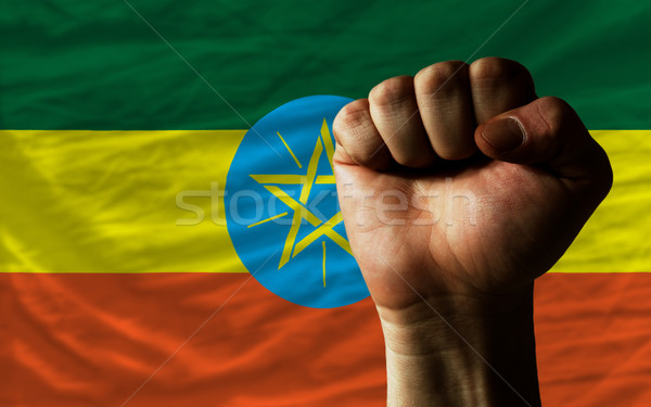 кулаком Эфиопия флаг власти полный все Сток-фото © vepar5