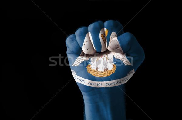 Pugno verniciato colori Louisiana bandiera basso Foto d'archivio © vepar5
