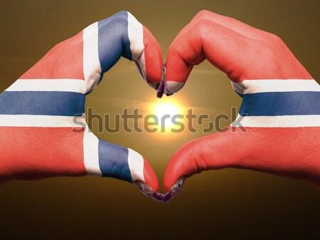 Serca miłości gest ręce banderą Laos Zdjęcia stock © vepar5