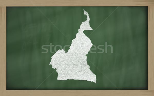 карта Камерун доске рисунок Сток-фото © vepar5