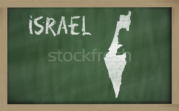 outline map of israel on blackboard  Stock photo © vepar5
