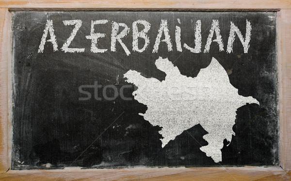 карта Азербайджан доске рисунок Сток-фото © vepar5