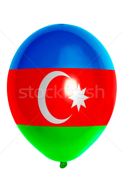 Ballon gekleurd vlag Azerbeidzjan gelukkig reizen Stockfoto © vepar5