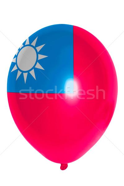Balon renkli bayrak Tayvan mutlu mutluluk Stok fotoğraf © vepar5