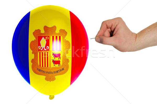 Ballon gekleurd vlag Andorra concept politiek Stockfoto © vepar5