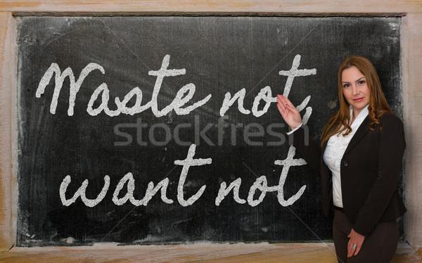 Nauczyciel odpadów nie tablicy udany Zdjęcia stock © vepar5