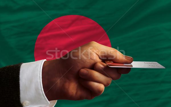 Vásárol hitelkártya Banglades férfi nyújtás ki Stock fotó © vepar5