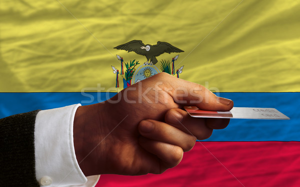 buying with credit card in ecuador Stock photo © vepar5