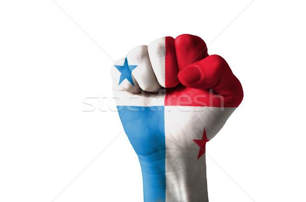 Pięść malowany kolory Panama banderą niski Zdjęcia stock © vepar5