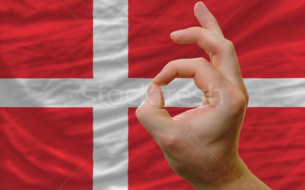 Geste Danemark pavillon homme Photo stock © vepar5