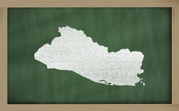 Mapa El Salvador lousa desenho Foto stock © vepar5
