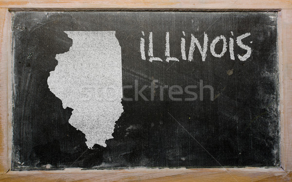 outline map of us state of illinois on blackboard  Stock photo © vepar5