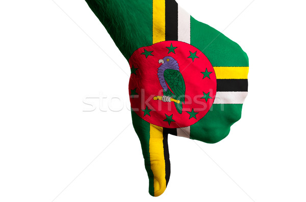Dominica bandeira para baixo gesto falha Foto stock © vepar5