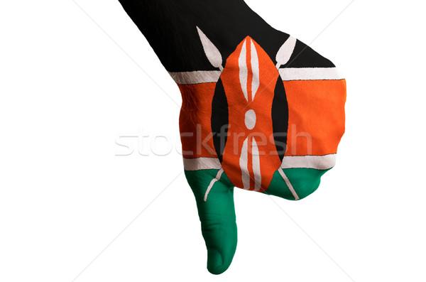 Kenya pavillon vers le bas geste échec Photo stock © vepar5